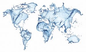 atlas of earth made up of water